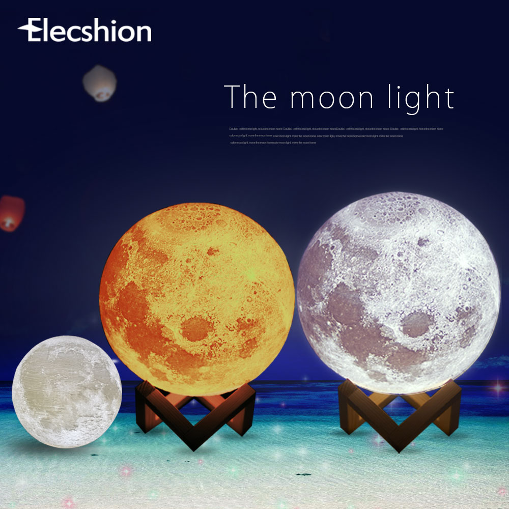 decorative night lights elecshion usb led 3d moon lamp light decorative 30300