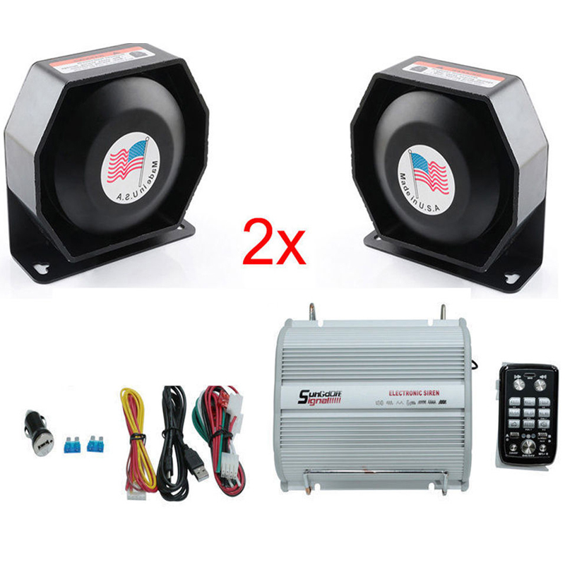 LARATH 200W Loud horn Emergency Warning Tweeter Compact siren Speaker PA Bluetooth System Aluminum alloy and