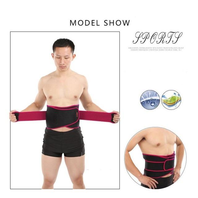 Waist Support Elastic Fitness Bodybuilding Brace Weightlifting Belt Sweat Mens Waist Trimmer  Waist Trainer  Weightlifting Belt