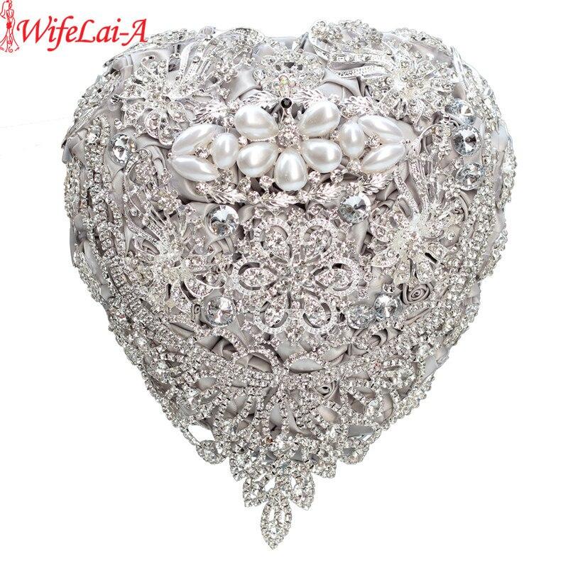 Bouquet de mariage en forme de coeur