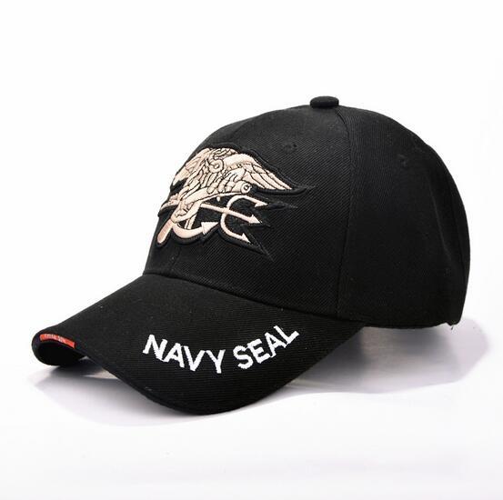 Prix pour Navy Seals Commémorative Casquette de baseball Coton Commando En Plein Air Réglable Snapback Gorras Hip Hop Hommes Femmes Soleil Chapeau Livraison Gratuite