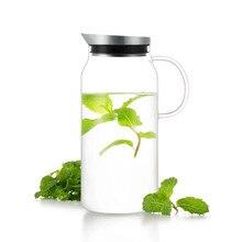Samadoyo Sport Drinking Water Bottle 1300ml Large Capacity Water Glass Heat-resistant Glass Water Bottle Cold Juice Jug S063