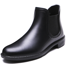 TONGPU Women's Ankle Rain Boots Side Elastic Simple Design Short Outdoor Boots