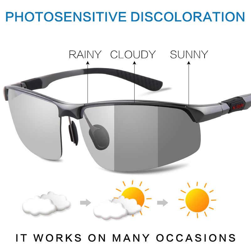 0acd131a25 ... MORAKOT Photochromic Sunglasses Men Polarized Discoloration Sunglasses  Driving Glasses Anti-reflective Eyewear UV400 P003121 ...