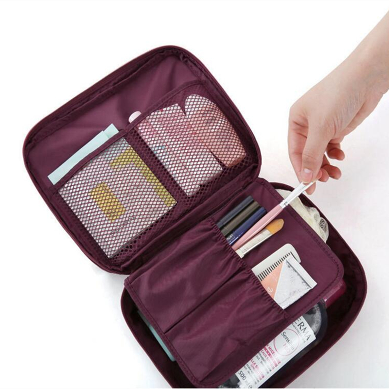 IUX Zipper new Man Women Makeup bag Cosmetic bag beauty Case Make Up Organizer Toiletry bag kits Storage Travel Wash pouch new women fashion pu leather cosmetic bag high quality makeup box ladies toiletry bag lovely handbag pouch suitcase storage bag