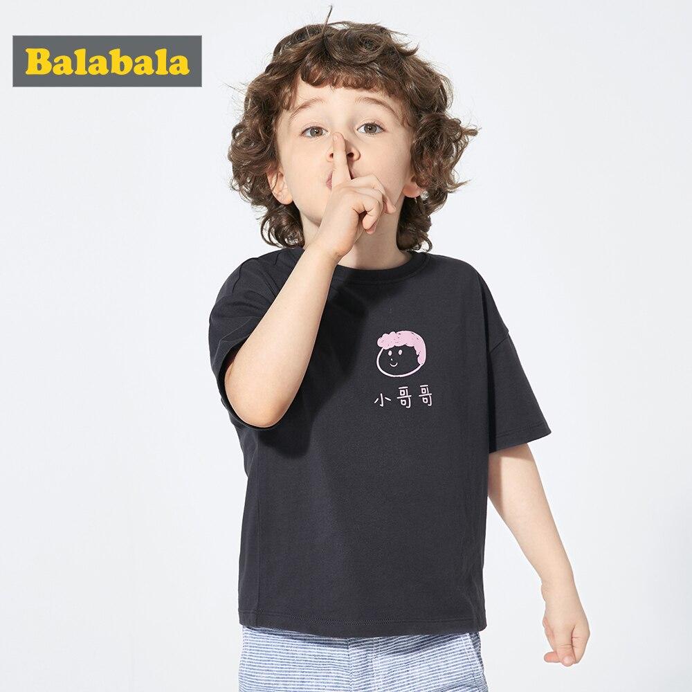 Clothing Balabalachildren Tshirt Short-Sleeve Girl Baby Cotton Summer New Boy for Mom