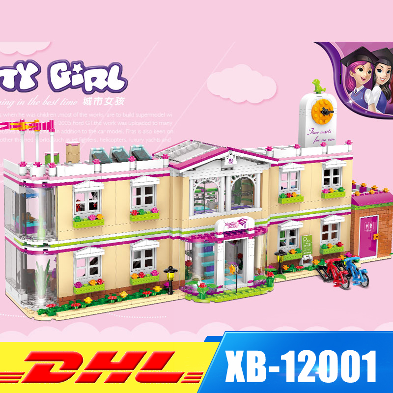 все цены на XINGBAO 12001 New 1750Pcs City Girl Series The Happy Teaching Building Set Building Blocks Bricks Funny Toys for Child Girls