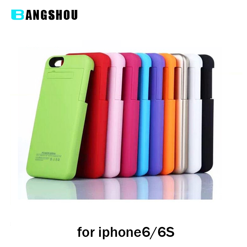 bilder für 3200 mAh Wiederaufladbare Externe Unterstützungsbatterie-kasten für iPhone 6 6 s Handy Lade Fall für iPhone 6 6 s Power Fall