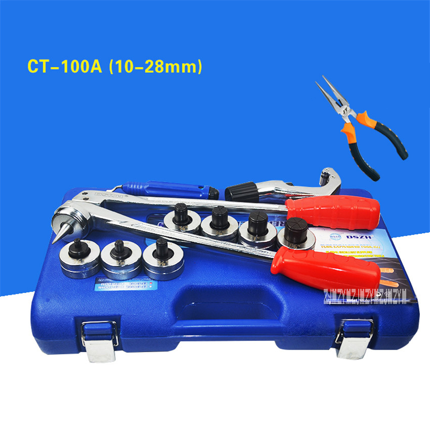 New Arrival CT-100A Copper Pipe Expander Air Conditioning Refrigeration Maintenance Manual Copper Tube Expansion Device 10-28mm 6 black windshield bag saddle 3 pouch pocket motorcycles bag case for harley davidson touring 1996 2013 free shipping