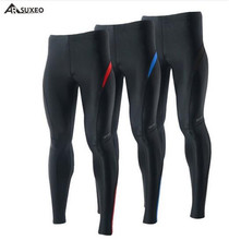 ARSUXEO Compression Sport Mens Tights Running Elastic Pants Run Fitness Workout GYM Reflective