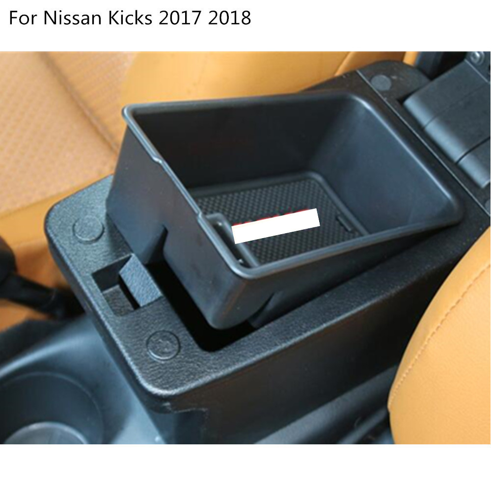 Car styling Inner Storage trim Container Center Console Cup Holder gear box frame armrest 1pcs For Nissan Kicks 2017 2018 car styling 1pcs center console armrest storage box elbow supporting armrest for nissan qashqai sunny tiida livina