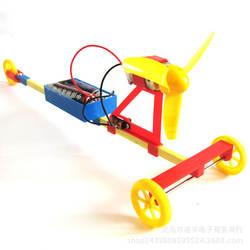Физические Наука Обучающие игрушки DIY гоночный автомобиль F1 воздушные силы ручной Ветер автомобиля научных экспериментов игрушки лучшие