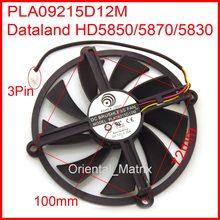 PLA09215D12H PLA09215D12M 12 V 0.55A 3 Fios 3Pin Para Dataland HD5830 HD5850 HD5870 Refrigerador Placa Gráfica Ventilador de Refrigeração
