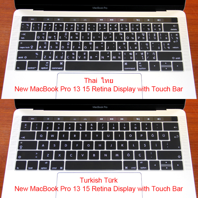 987025003aa Turkish Thai Silicone US/EU Common Keyboard Cover Skin For Macbook Pro  Retina 13