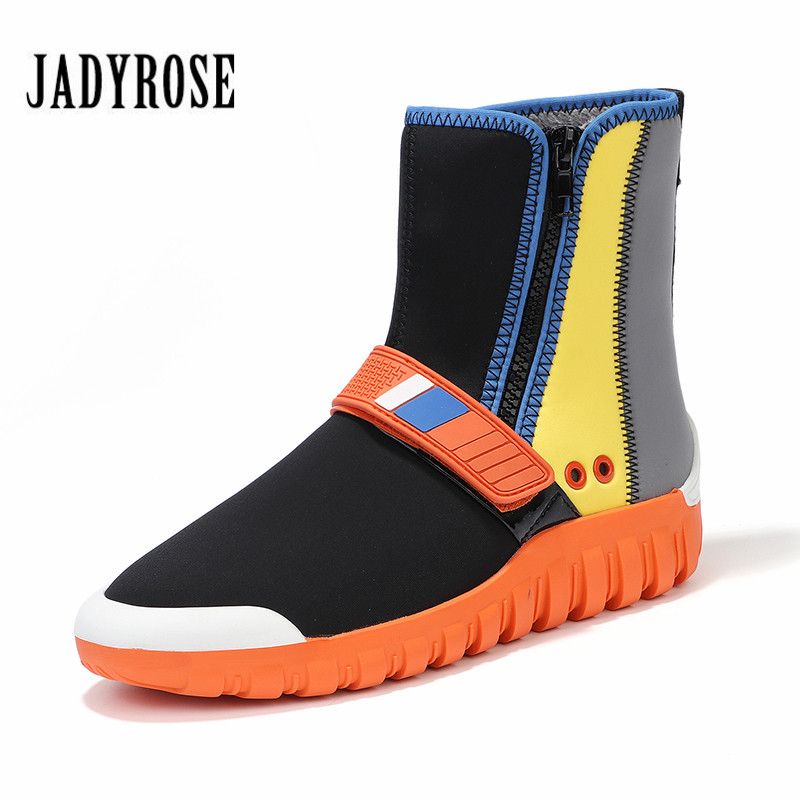 dd678cf24 US $64.32 33% OFF Jady Rose 2019 New Women Sock Boots Stretch Fabric Flat  Casual Shoes Woman Fashion Platform Ankle Boots Espadrilles Creepers-in ...