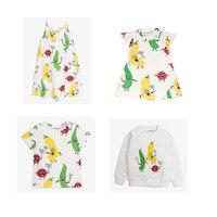 BOBOZONE 2018 NEW Veggie Serie Print Thin Sweater Dress Tee For Kids Baby Girls Top