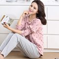 women's pajamas spot pullover tops and solid solor casual pants pajamas suits lounge clothing for women's home