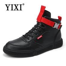 ba49614f Otoño masculino para Skateboard Blanco alto top casual Zapatos Hombre  calzado botas tobillo transpirable estudiante negro moda z.