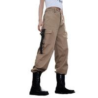 2018 Streetwear Cargo Pants Women Casual Joggers Black High Waist Loose Female Trousers Korean Style Ladies Pants Sweatpants