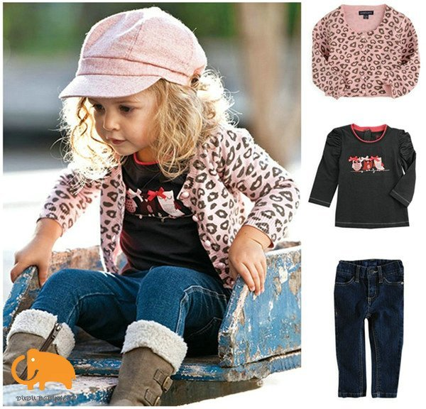 Retail+Free shipping,Baby Girl clothes,Western Style 3-pcs set(Pink Leopard Coat+Skinny jeans+long sleeve primer shirt)