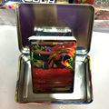 Hot moda Card Game Collection Tin Box + 40 peças Lista de cartões de Livro Presentes Brinquedos Novidade Cartões por tos para crianças