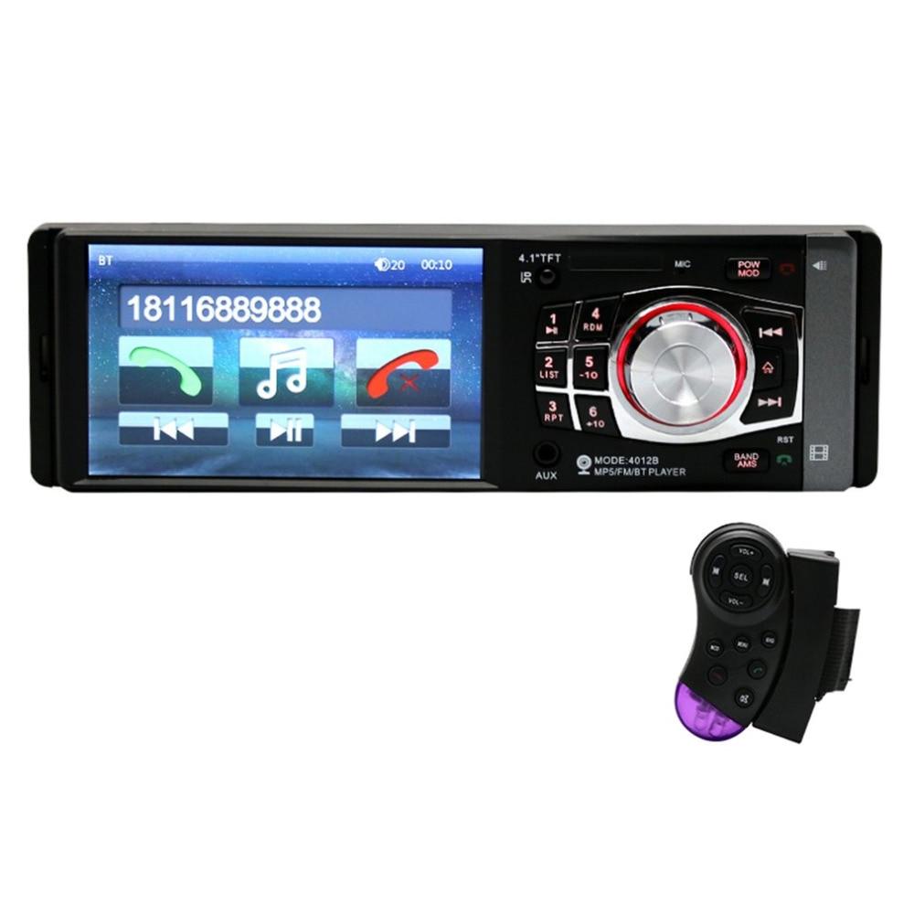 4012 voiture lecteur MP3 Bluetooth voiture Audio stéréo musique FM Radio récepteur soutien appel main libre HD écran numérique télécommande