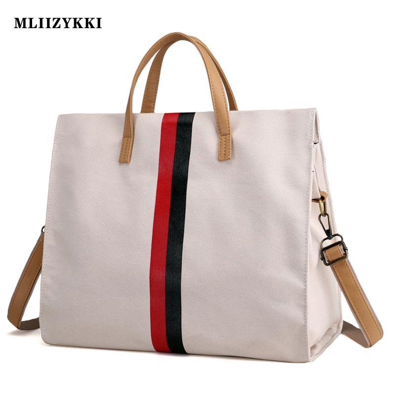 MLIIZYKKI Handbags Women Bags High Quality Canvas Casual Tote Bags Shoulder Bags Female Patchwork Top-handle Bag mliizykki lace flower handbags women shoulder bag spring casual hobos tote