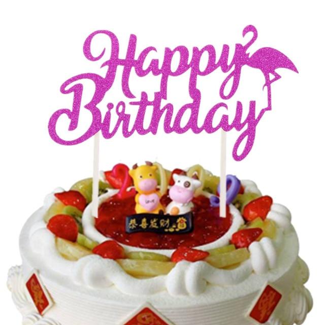 Brilliant Creative Flamingo Cake Toppers Happy Birthday Cake Flag Birthday Funny Birthday Cards Online Ioscodamsfinfo