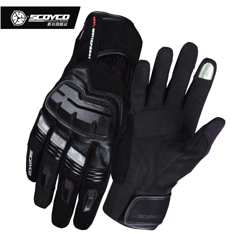 SCOYCO Motorcycle Gloves Mens Touch Screen Outdoor Waterproof Windproof Warm Winter Gants Moto Motorbike Riding Gloves