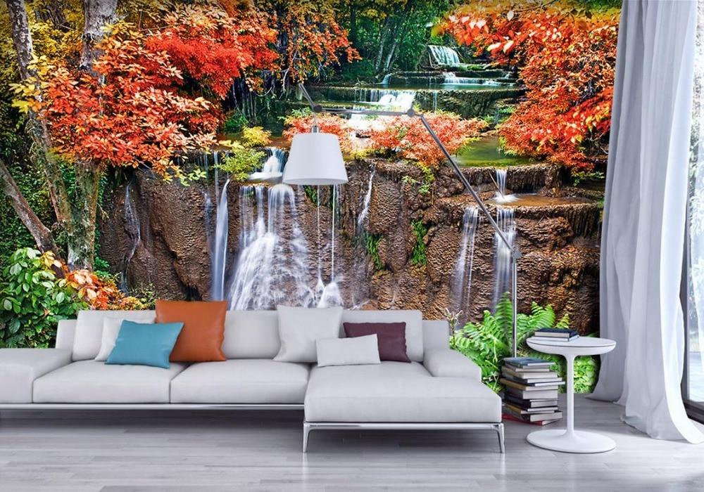 romantic 3d landscape backdrop nature waterfalls stereo custom zoom