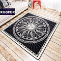 European and American minimalist tide brand carpet soft mats living room entrance hall bedroom bed non-slip mats