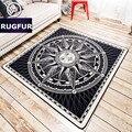 Minimalista europeu e americano maré marca carpet tapetes macios tapetes de sala de estar hall de entrada quarto cama não-slip