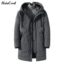 HALACOOD Men Winter Long Thick Parkas Jacket Outerwear Plus