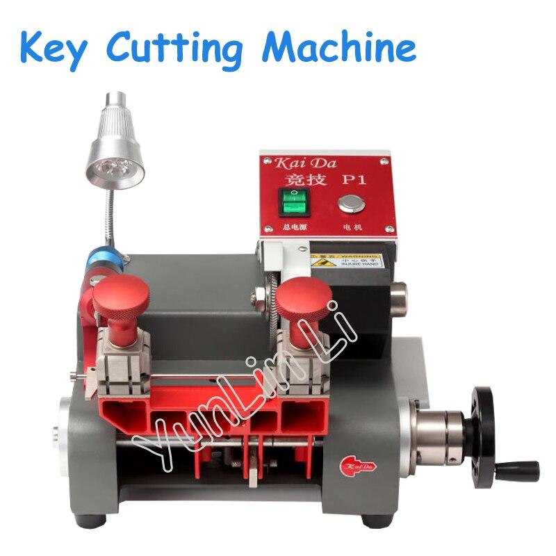110 V/220 V Machine de découpe de clé verticale Machine de copie de clé universelle pour n'importe quelle aiguille verrouiller tous les outils de coupe de clé de trancheuse P1 universel