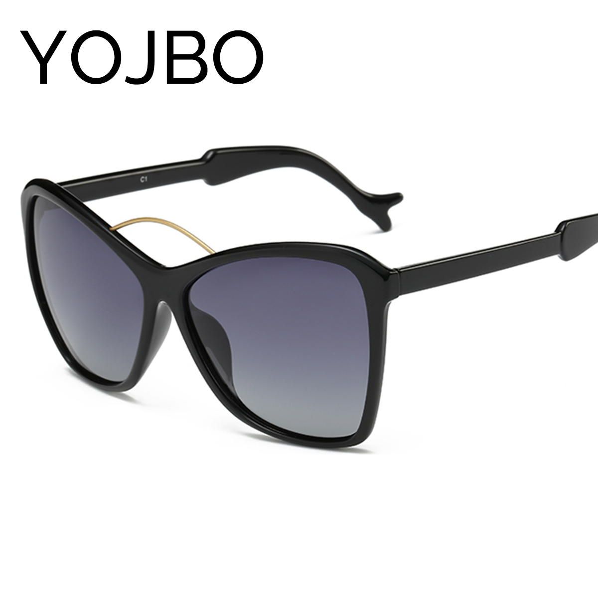 YOJBO Oversized Cat Eye font b Polarized b font Women Sunglasses 2017 font b Fashion b