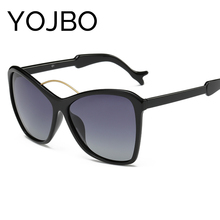 YOJBO Oversized Cat Eye Polarized Women Sunglasses 2017 Fashion Retro Mirror Sun Glasses UV400 Oculos Brand Designer Glasses