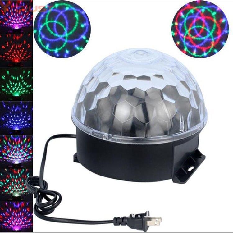 Magic Ball Stage Lights DJ Show Party Lighting Disco Bar Xmas RGB 9 lighting Color Laser Spotlights strobe Voice Control Sound