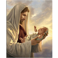DIY 5D Diamond Embroidery Religion Jesus And Baby Pictures Cross Stitch Full Drill Religion Diamond Mosaic