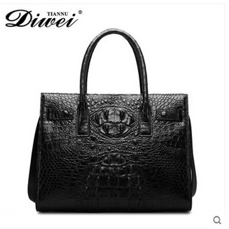 diwei 2018 new hot free shipping fashion trend Siamese real thai crocodile leather ladies handbag one shoulder women bag yuanyu 2018 new hot free shipping fashion lady real crocodile skin bag imported caiman leather crocodile grain women handbag