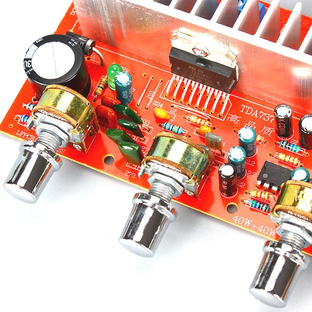 Lusya TDA7377 Digital Audio Amplifier Board 40W+40W Stereo 2.0 Channel power amplificador for Car DIY speaker DC12V E5-005