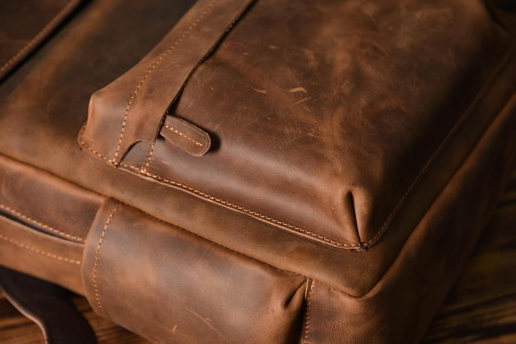 China designer leather backpack Suppliers
