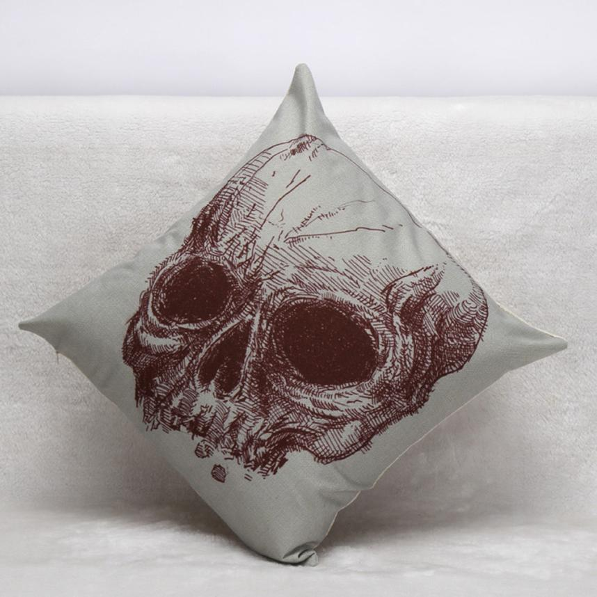 2017 New Arrivals So Hot Fashion Supply Halloween Skull Pillow Case Cover Waist Throw Home Free Shipping, Aug 25