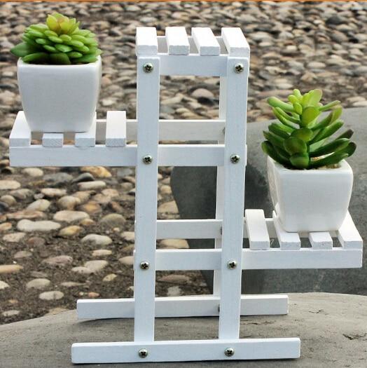 3set 21cm Garden Indoor Wood Artificial Flower Vase Stand Holder