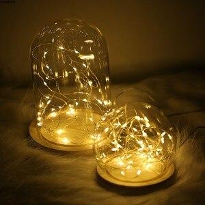 Image 4 - Fotoğraf sahne LED dize ışıkları gece lambası cam şişe Garland peri düğün noel partisi yatak odası dekorasyon fotoğrafları