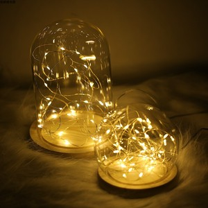 Image 4 - 写真の小道具ledストリングライト常夜灯ガラスボトル花輪のための妖精の結婚式クリスマスパーティー寝室の装飾の写真