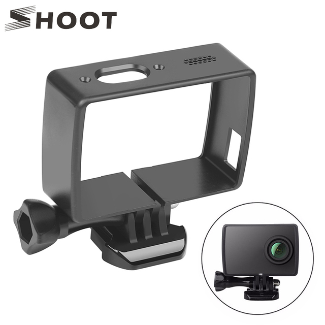 SHOOT Standard Protective Frame Case for Yi Lite 4K 4K+ Cam with Quick Release Buckle and Thumb Screw Mount For Yi 4K Accessory