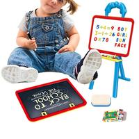 Drawing Toys Multifunctional Small Drawing Board Children's Magnetic Double Sided Doodle Board Adjustable Early Education Easel