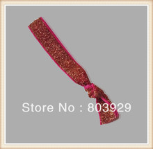 "5/8 ""Elastic Tenente Ouro Glitter Cabelo Ribbon Ties"