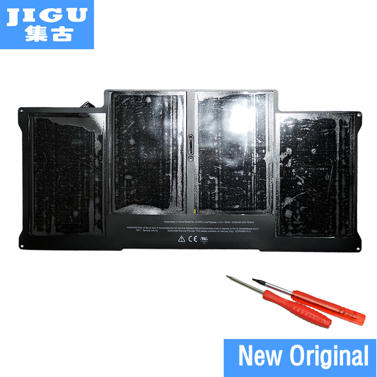 JIGU Brand New Original Genuine Battery A1405 For MacBook Air 13 A1369 Mid 2011 A1466 Mid 2012, equipped with two screwdrivers hsw rechargeable battery for apple for macbook air core i5 1 6 13 a1369 mid 2011 a1405 a1466 2012