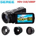 "Full HD Camcorder True 1080p @ 30fps Max 24.0 MP Full Color Screen For Low light Digital Video Camera 3.0"" 16x Zoom DV Recorder"